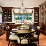 Spencers Appliance for Traditional Kitchen with Soft Roman Shades