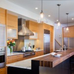 Spencers Appliances for Contemporary Kitchen with Hanging Glass Pendant