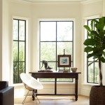 Spring Cleaning Checklist for Transitional Home Office with Bay Window