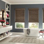 Springs Window Fashions for Contemporary Bathroom with Window Blinds