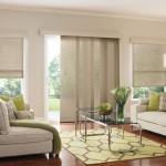 Springs Window Fashions for Transitional Family Room with Vertical Blinds