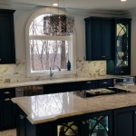 St Albans Mo for Contemporary Spaces with Custom Teal Cabinets