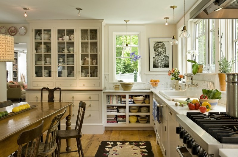 St Peters Olney for Farmhouse Kitchen with China Cabinet