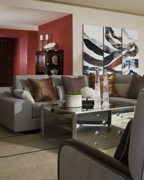 St Regis Sf for Contemporary Living Room with Grey