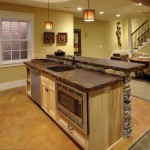 Stained Concrete Countertops for Traditional Basement with Traditional