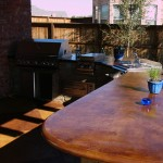 Stained Concrete Countertops for Traditional Patio with Traditional