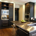 Stainless Steel vs Nonstick for Contemporary Kitchen with Stainless Steel Counter Tops