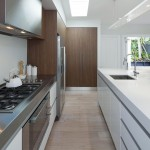Stainless Steel vs Nonstick for Contemporary Kitchen with Walnut