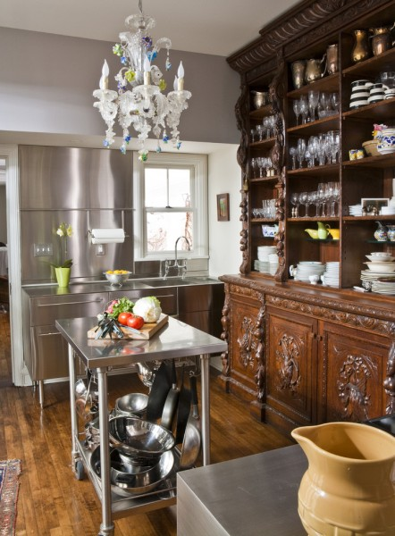 Stainless Steel vs Nonstick for Eclectic Kitchen with Stainless Steel Countertops