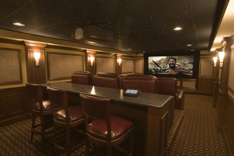 Stanton Carpet for Traditional Home Theater with Screening Room