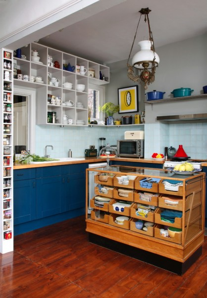 Stash Furniture for Eclectic Kitchen with Island