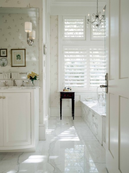 Statuary Marble for Traditional Bathroom with White Bathroom