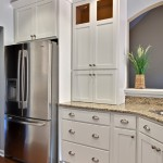 Stiles Construction for Contemporary Kitchen with White Cabinets