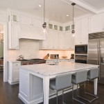 Stiles Construction for Transitional Kitchen with Bar Stools