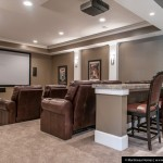 Stony Brook Theater for Traditional Home Theater with Sherwin Williams Virtual Taupe