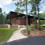 Storer House for Rustic Exterior with Steel Canopy