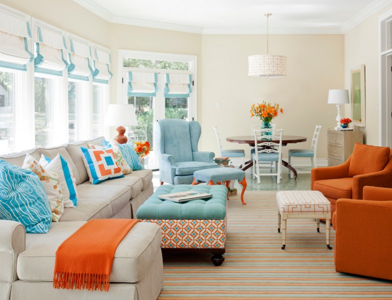 Stroheim for Transitional Living Room with Living Room