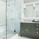 Subway Tile Patterns for Traditional Bathroom with White Countertop