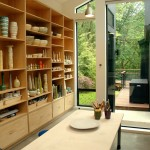 Sudio for Contemporary Home Office with Sloped Ceiling