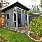 Sudio for Contemporary Shed with Skillion Roof