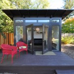 Sudio for Modern Shed with Red Chairs