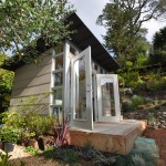 Sudio for Modern Shed with Wooden Deck