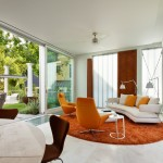 Summers Heating and Cooling for Contemporary Living Room with Exterior Blinds