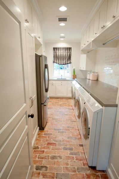Sunbelt Lighting for Traditional Laundry Room with Roman Shades