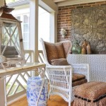 Sunroom Decorating Ideas for Eclectic Porch with Patio Chair