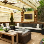 Sunroom Decorating Ideas for Traditional Porch with Brick Exterior