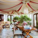 Sunroom Decorating Ideas for Traditional Sunroom with Tile Floor