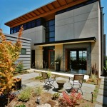 Swenson Granite for Contemporary Exterior with Glass Door
