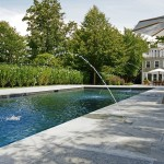Swenson Granite for Traditional Pool with Pool House