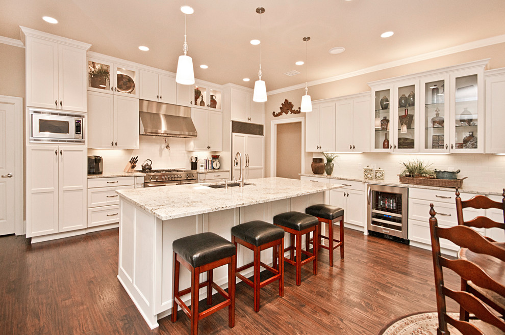 Table Shuffleboard Rules for Traditional Kitchen with White Kitchen