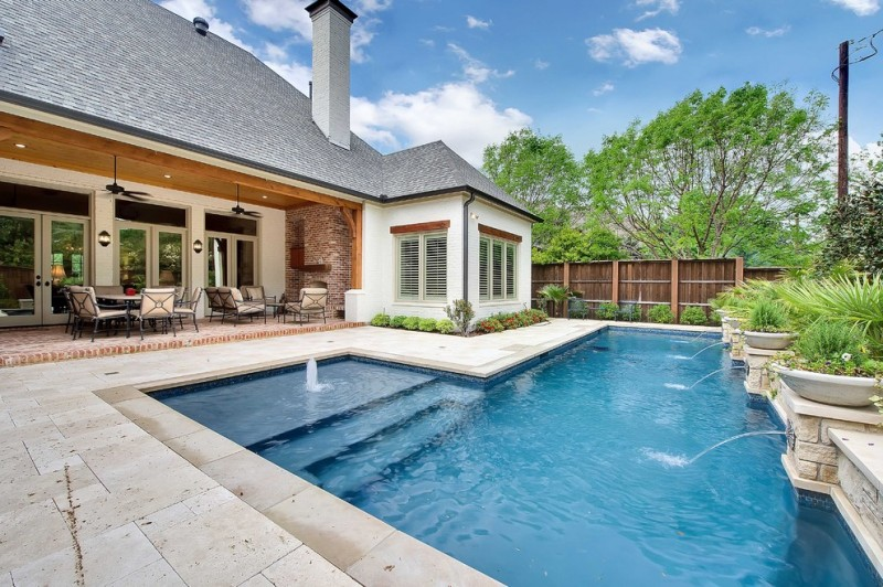 Tampa Bay Pools for Traditional Pool with Shingled Roof
