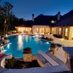 Tankless vs Tank Water Heater for Traditional Pool with Custom Swimming Pool Builder Flower Moun