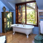 T&d Furniture for Rustic Bathroom with Shingle Siding