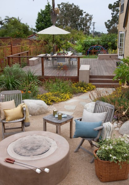 Teakwood Dc for Beach Style Patio with Cable Railing