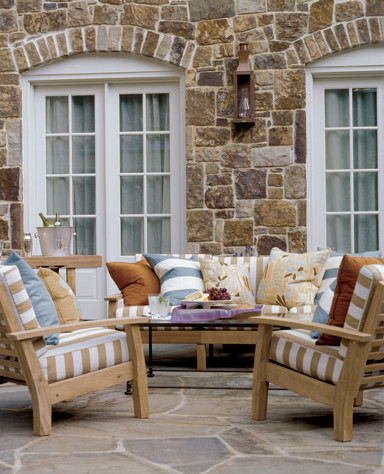 Teakwood Dc for Traditional Patio with Stone