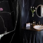 Ted Baker Nordstrom for Eclectic Powder Room with Vanity Mirror