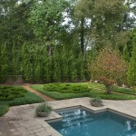 Teddy Bear Pools for Traditional Landscape with Bark Mulch