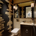 Teleo for Eclectic Powder Room with Onyx Counter