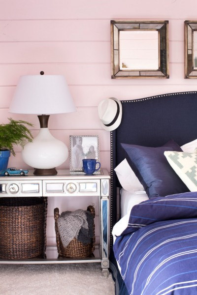 Tema Furniture for Contemporary Bedroom with Pink and Blue
