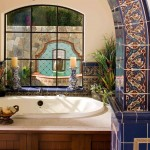 Tenpenny Furniture for Mediterranean Bathroom with Tile Arch