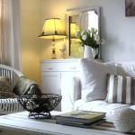 Texas Casual Cottages for Shabby Chic Style Living Room with White Sofa
