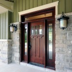 Therma Tru Doors for Craftsman Entry with Stone Exterior