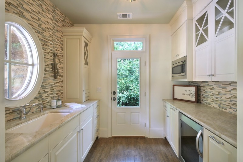 Therma Tru Doors for Traditional Kitchen with Tile Hardwoods