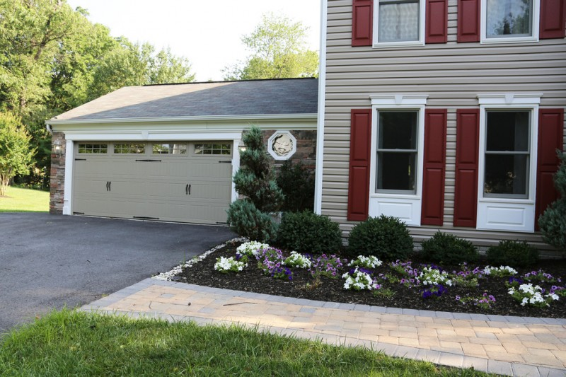 Thermacore for Traditional Garage with Tan Garage Door