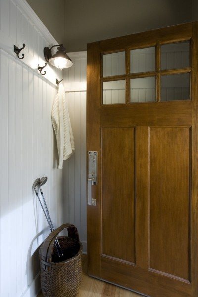 Thermatru Doors for Traditional Entry with Wall Sconce