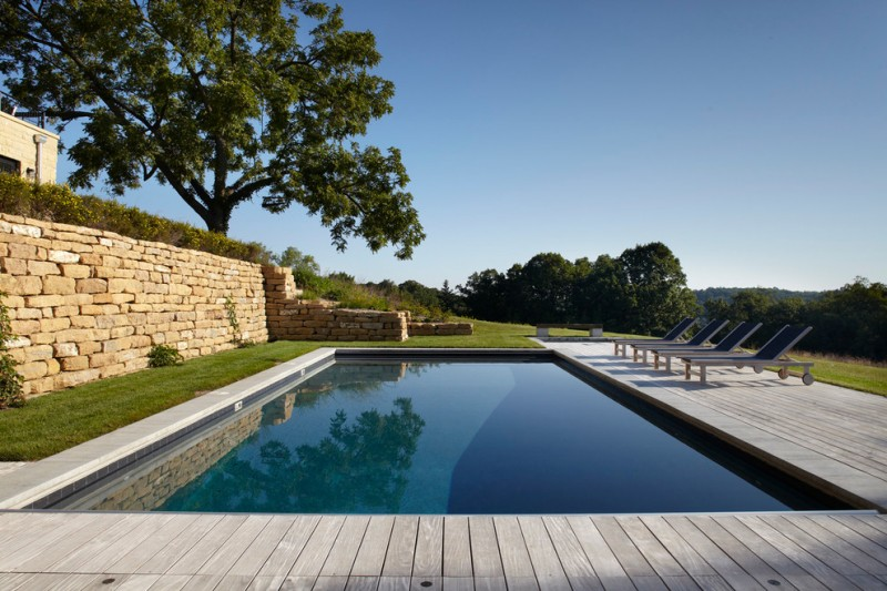 Thistle Hill for Farmhouse Pool with Shade Tree